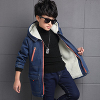 Boys Spring Autumn Coats Warm Casual Kids Demin Wax Jacket Infantis Menina Retro Crowboy Clothes Outerwear