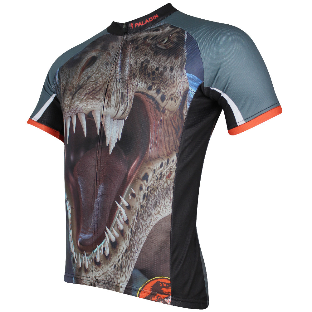 7346345e6 Angry Beast Men Short sleeve Brown Cycling Jersey Tyrannosaurus Rex  Ciclismo Ropa Blue Breathable Bicycle Clothing Size S-6XL