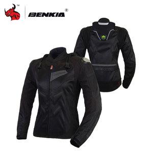 Image 3 - BENKIA Women Motorcycle Jacket Protective Gear Breathable Motorcycle Racing Jackets Moto Jacket Moto Femme S 2XL SIZE