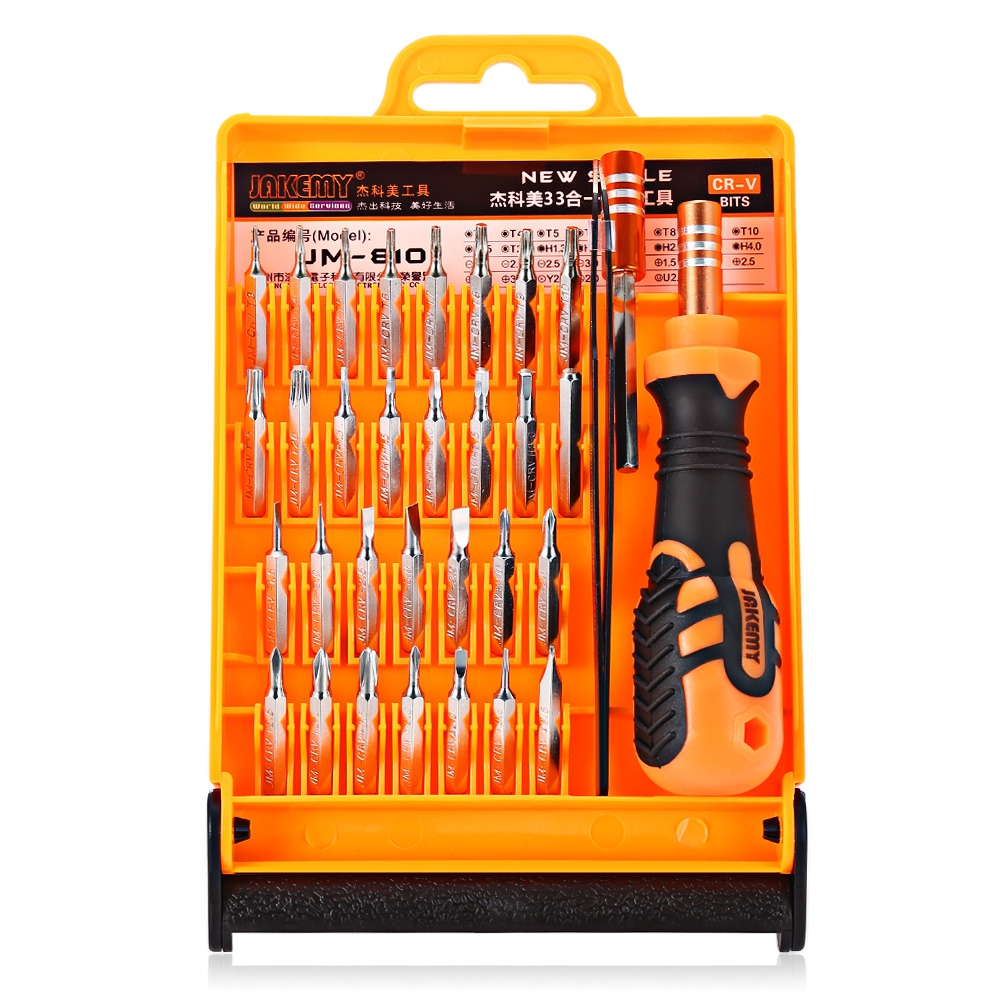 JM-8101 33 in 1 Multifunctional Tornavida Seti Torx Screwdriver Set Kit Telecommunication Tools Maintenance For Repair Phones