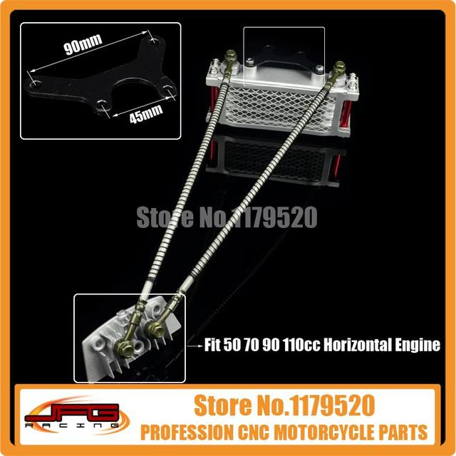 Aceite de Refrigeración Del Radiador Refrigerador para 50 70 90 110 Horizontal motor de La Suciedad Pit Bike Mono Motocicleta ATV COOLSTER SDG SSR TAOTAO