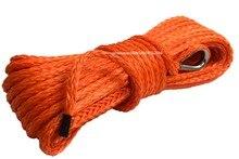 Orange 6mm*15m ATV Winch Line,1/4