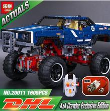 Лепин 20011 дизайн серии супер классический Ограниченная серия внедорожных модель автомобиля строительные блоки кирпичи Совместимость игрушки 41999