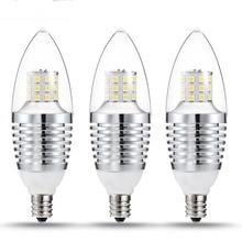 3Pcs E12 LED Dimmable Light Bulbs Candle Light Bulb 110V Equivalent LED Bulbs Energy-saving Chandeliers LED Bulb