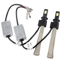 Conversion Kit H3 Easy To Install 3200LM Car Styling LED Headlight 30W Each Bulb Aluminum Alloy