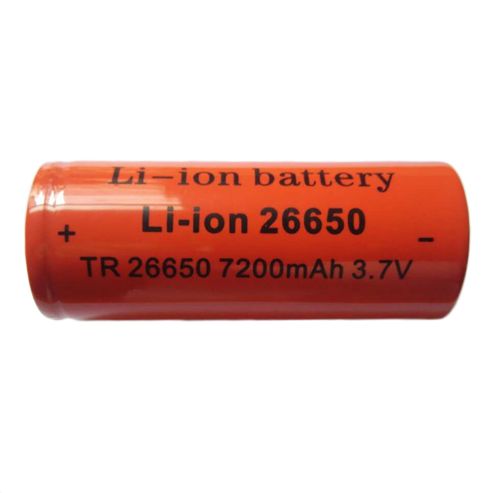 Professional 26650 3.7v 7200mah Rechargeable Li-ion Battery Use For Flashlight Good Quality Torch Batteries Red