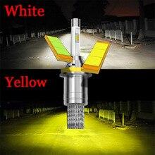 Желтый Белый 3000 К 6000 К 9600 люмен 4800Lm * 2 Lumiled Чипов СВЕТОДИОДНЫХ Фар Автомобиля Kit H1 H3 H4 H7 H9 H11 9004 HB1 9005 HB3 9006 HB4