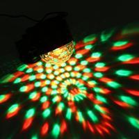 3W Mini USB RGB LED Magic Ball DJ Light Small Sound Control Activated Portable Lamp Disco