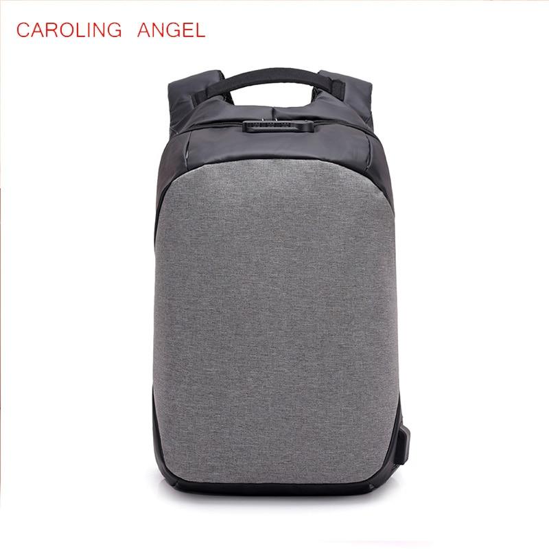 2018 Anti theft Laptop Backpack USB Charging Port Waterproof School Bags for Teenager Men Backpacks School Mochila