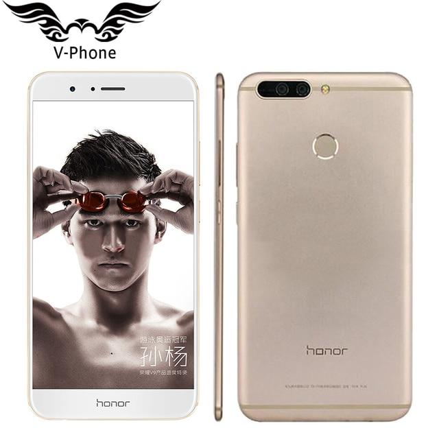 """Оригинальный Huawei Honor V9 4 г LTE мобильный телефон 5.7 """"2560x1440 6 ГБ Оперативная память 128 ГБ Встроенная память Kirin960 Восьмиядерный двойной 12.0MP Камера смартфон"""
