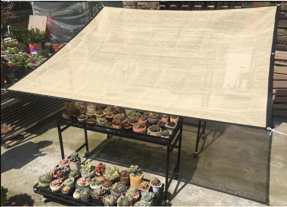 70%-75% parasol ombre tissu soleil maille UV résistant filet pour jardin couverture fleurs plantes Patio pelouse