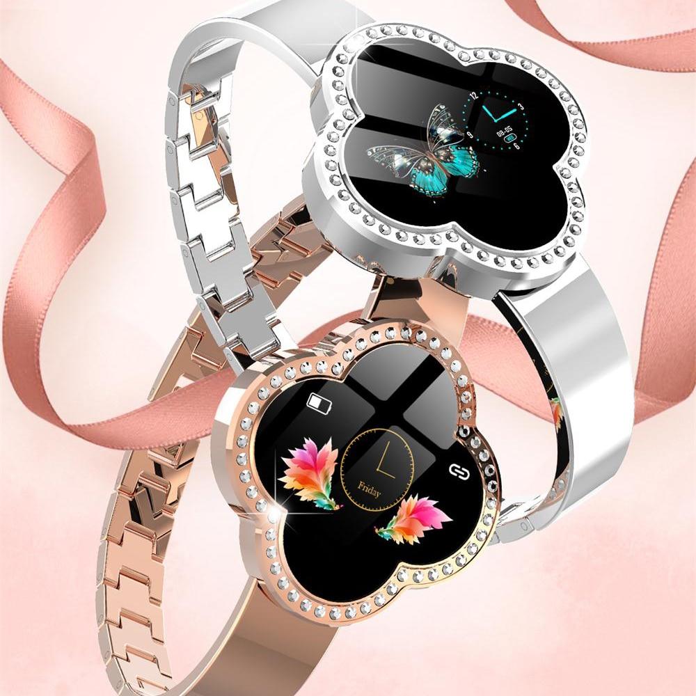 MNWT S6 montre intelligente étanche femmes moniteur de fréquence cardiaque pression artérielle Tracker Fitness Smartwatch Sport montre pour ios android - 2