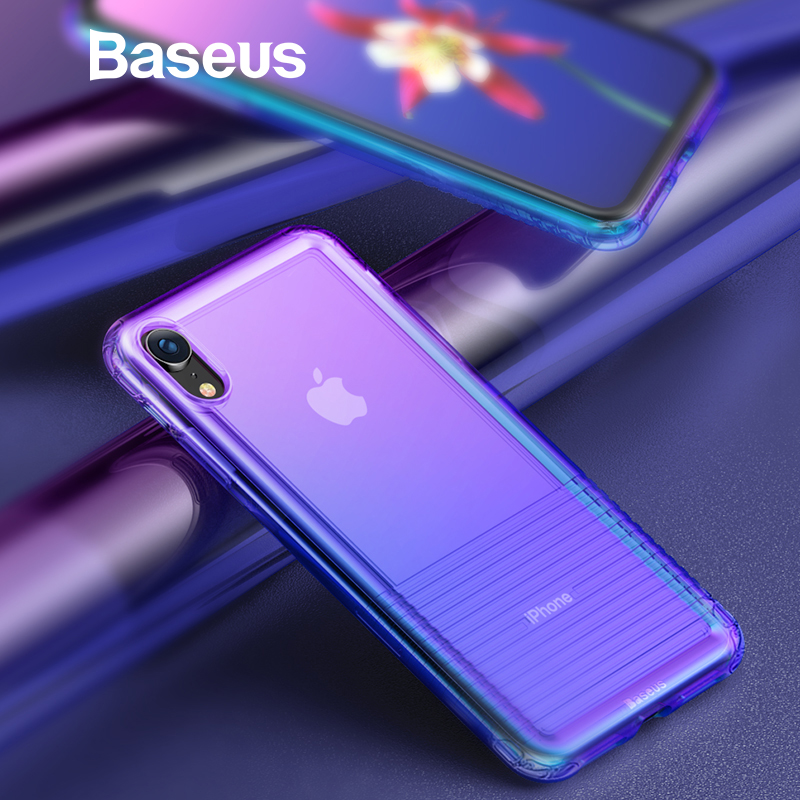Baseus de silicona suave Airbag caso para iPhone Xs Max XR 2018 protectora caja del teléfono para iPhone Xs xs Max Coque cubierta