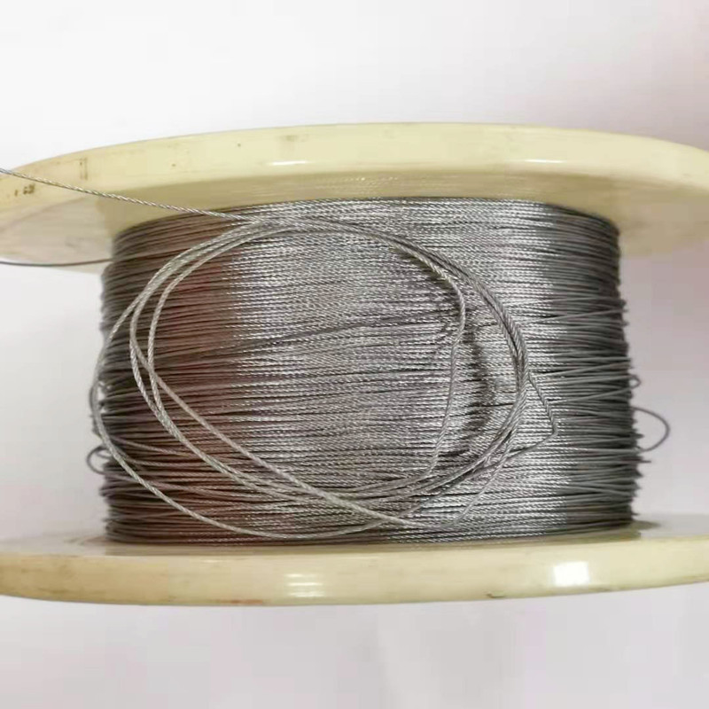 50M 304 2.5mm Diameter Stainless Steel Wire Rope Cable Softer Fishing Lifting Cable 7X7 Structure 2.5mm Diameter