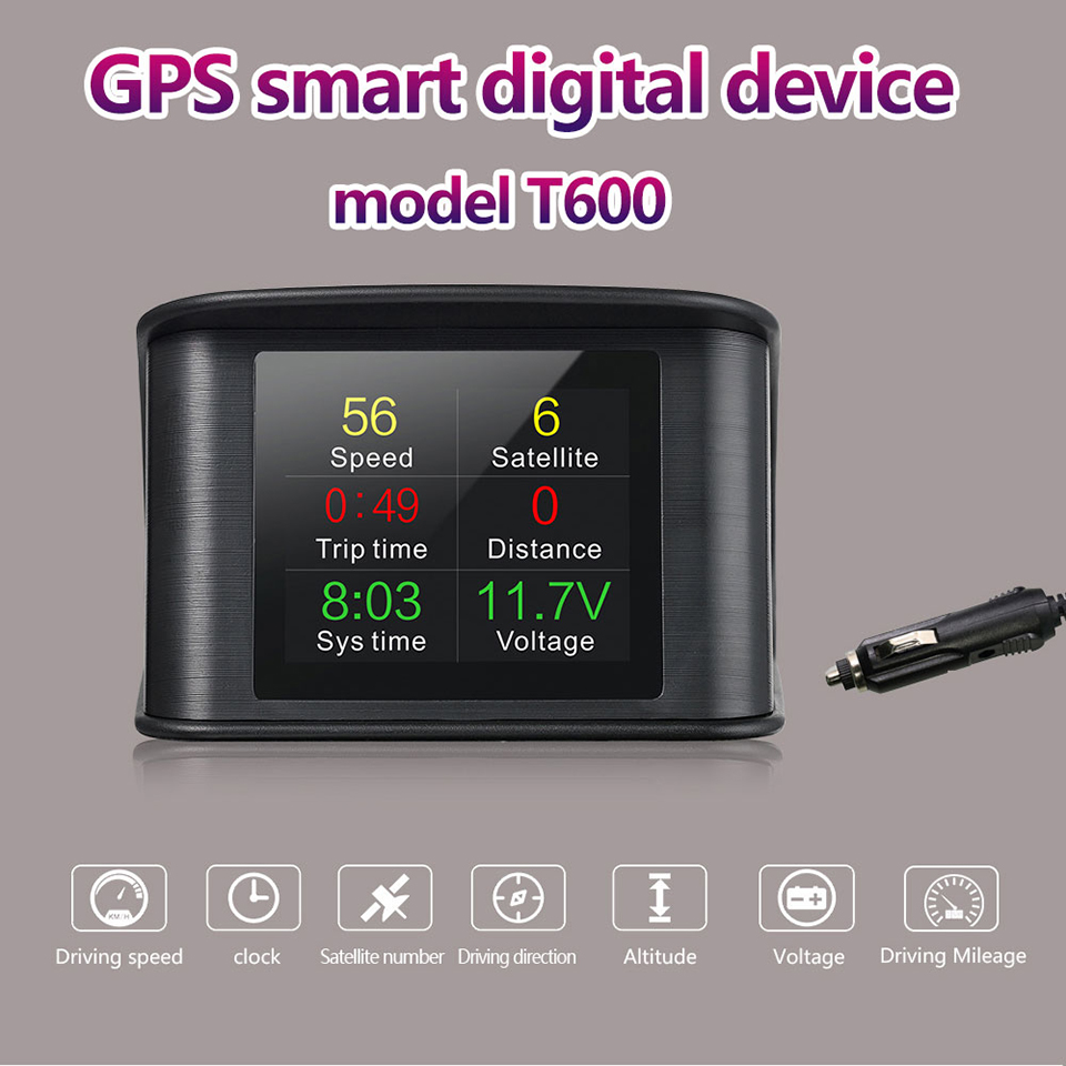 VJOYCAR P10 Automobile On-board Computer Car Digital GPS OBD Driving Computer Display Speedometer Coolant Temperature Gauge