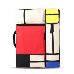 Grande saco de arte para a pintura da placa de desenho conjunto saco de esboço de viagem para esboçar ferramentas pintura da lona arte suprimentos para o artista