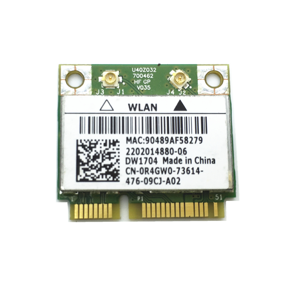 For Wireless Wifi Card DW1704 1704 BCM943142HM Mini PCI-E WLAN 802.11N Bluetooth 4.0 For 17TR 15TR 17R 15R