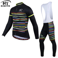KIDITOKT 2017 Thermal Fleece Bicycle Wear Bike Clothing Suit Invierno Maillot Ciclismo Winter Long Sleeve Cycling