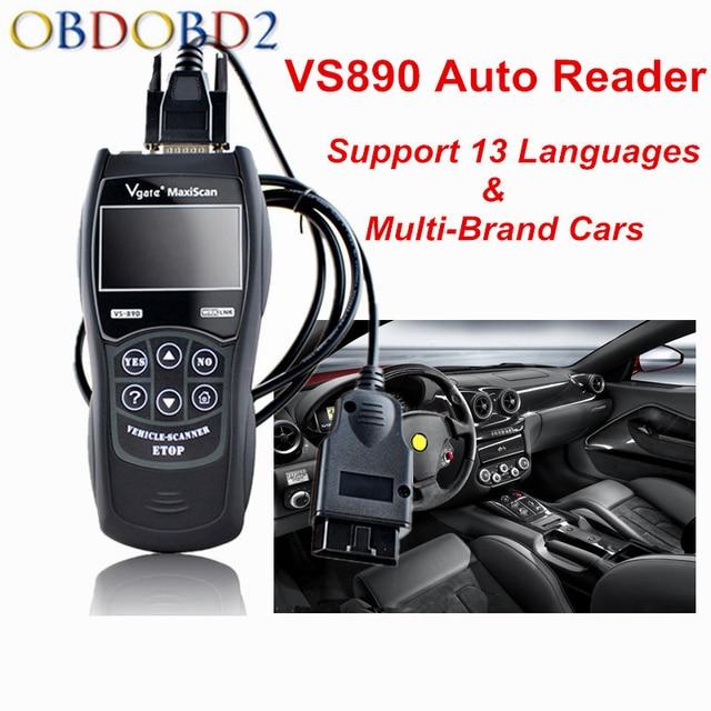 New Price Best Price Vgate VS890 Car Diagnostic Tool Multi-language VS 890 OBD2 Automobile Scanner Maxiscan Vgate VS-890 OBDII Scan Tool