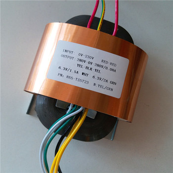 280V-0-280V 80mA 6.3V 1.5A 6.3V 2A R Core Transformer R65 custom transformer 230V copper shield for Pre-decoder Power amplifier