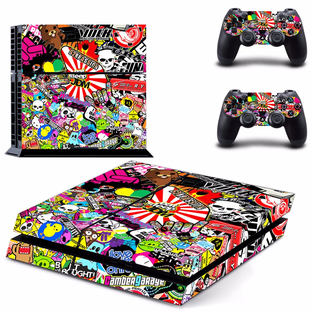 Graffiti Rainbow Six Siege PS4 Skin Sticker Decal For Sony PlayStation 4 Console and 2 Controllers PS4 Skins Sticker Vinyl