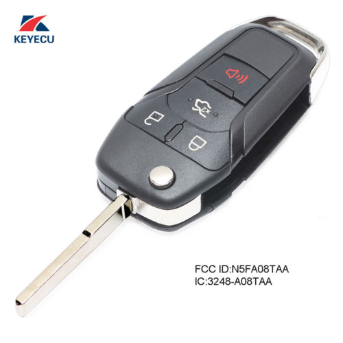 KEYECU Replacement Folding Remote Key Fob 315MHz for Ford Fusion 2013 2014 2015 2016 N5F-A08TAA
