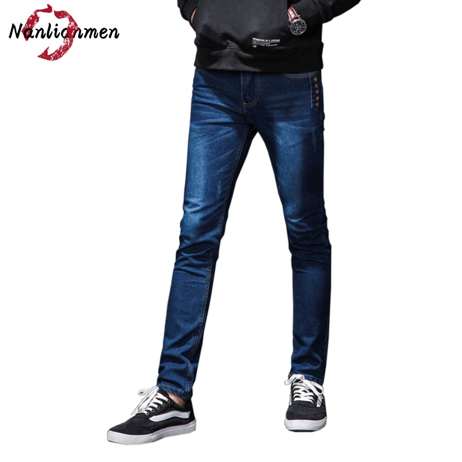 2017 Real Zipper Fly Midweight Mid Autumn New Jeans Mens Boyfriend Stylish Straight Slim Fit Denim Homme Zipper Fly Male Pants new design mid waist jogger jeans masculino mens pants washed slim fit male cotton straight long denim homme trousers