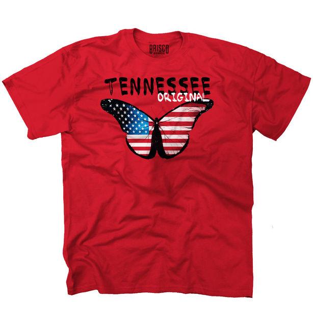 fd0bd17b1f Idéias Do Presente Do Tennessee State Americana Patriótica Borboleta Bonito  T-Shirt Tee Do Punk