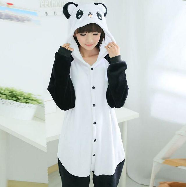 6ac3ca153a Adulto Unisex Pijama Panda Adulto Poliéster Pijama Conjuntos Pijamas Casais  Pijamas Completo Manga Com Capuz
