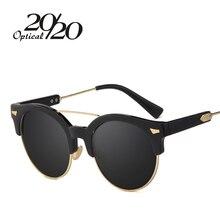 20/20 Brand Classic  Polarized Sunglasses Women Round Demi Sun glasses Vintage Eyeglasses Female Oculos De Sol 7020