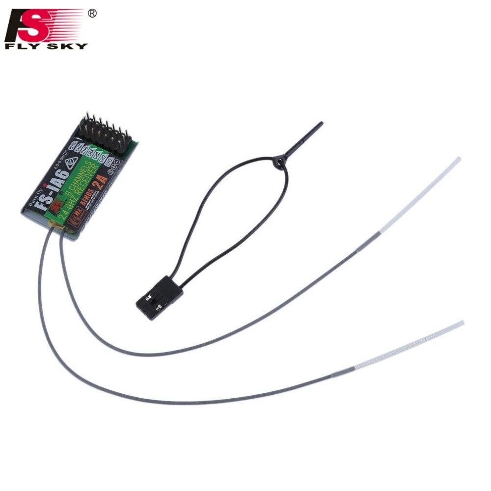 Profesional 2,4 GHz 6 canales 140 banda 20dBm receptor para FlySky FS-iA6 RC avión receptor duradero para transmisor