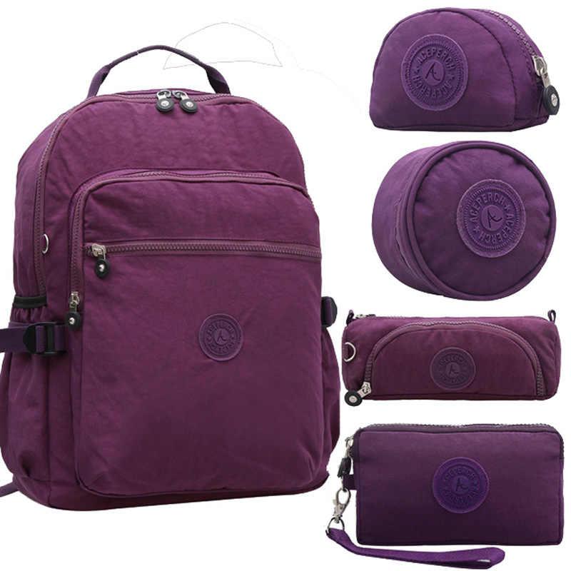 Mochila escolar ACEPERCH de nylon Original Kipled resistente al agua multifuncional para mujeres, mochila escolar para viaje, bolso de viaje, morral de gran capacidad para caminata