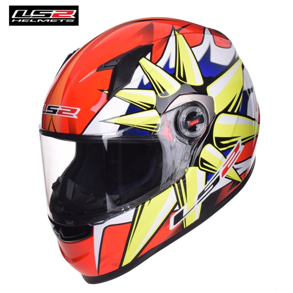 LS2 Moto Casque Racing Complète Casque Casco Capacete Casque Moto Kask Alex Barros FF358 LS2 Casques Barre Caschi