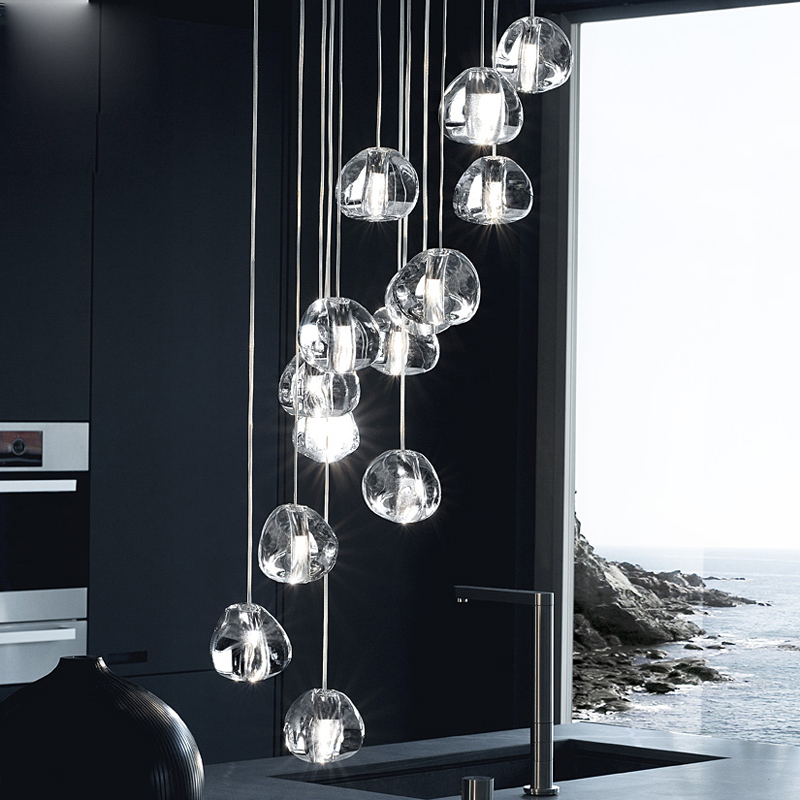 GETOP Water Drop Crystal Creative Light European style Luxury LED Lamps Modern Indoor Ceiling Lighting Fast Drop Ship in Ceiling Lights from Lights Lighting