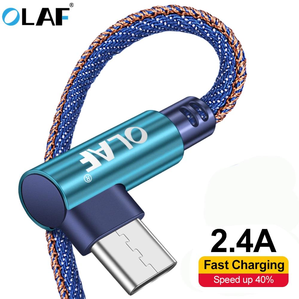 Кабель Micro USB OLAF, кабель для быстрой зарядки и синхронизации данных для Samsung, Xiaomi, Huawei, 90 градусов, 2 А, 1 м/2 м