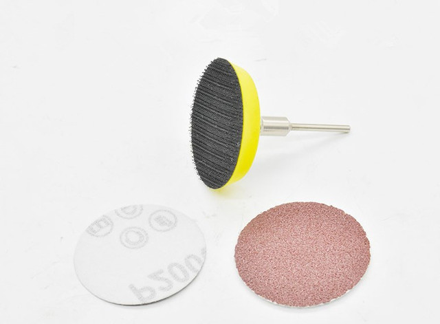 61ps Lot 50mm Sander Disc Sanding Disk Grit 320 1500 Paper With 1pcs 2 Inch Abrasive Polish Pad Plate For Dremel Electric Grinde