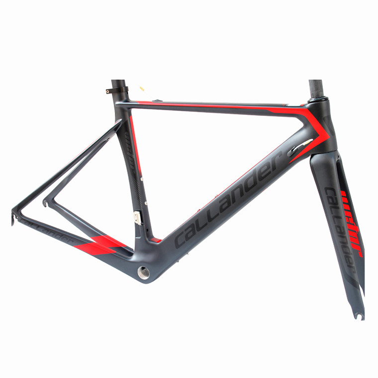 Germany CALLANDER Brand Bicycle Composite Carbon Fiber frame Carbon fork Frame Set 700C Road Bike Frame Size 48 50m track frame fixed gear frame bsa carbon 1 1 2to 1 1 8 bike frameset with fork seatpost road carbon frames fixed gear frameset