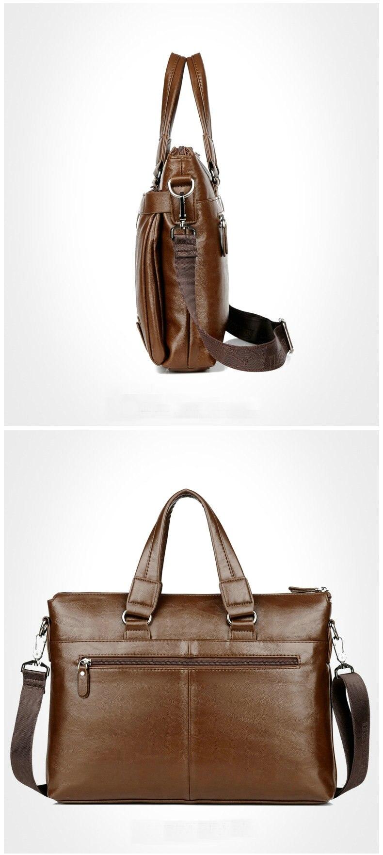 HTB1molBelWD3KVjSZKPq6yp7FXad Cowhide Leather men's Briefcase men laptop male messenger bag Men's shoulder bags briefcases for documents bag