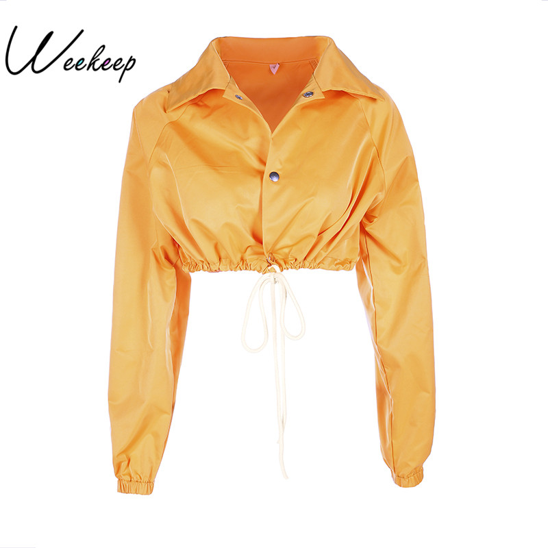 Weekeep Womens Autumn&Winter Plus Size Jackets And Coats 2017 Women Turn-Down Collar Long Sleeve Covered Button Loose Streetwear
