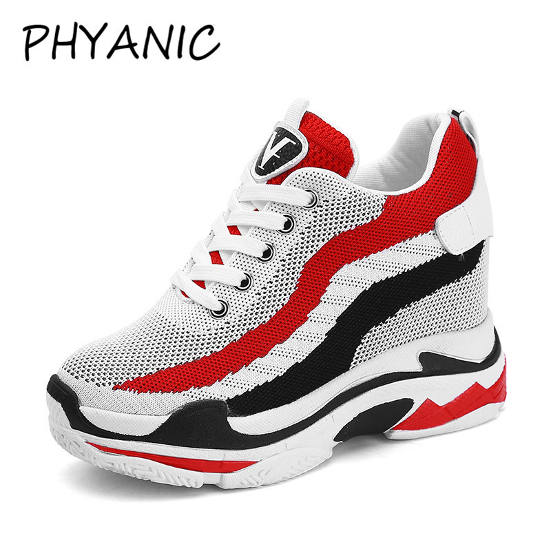 PHYANIC High Quality Fashion Womens Vulcanize Shoes Brand Sneakers Female Walking Shoes Thick Sole Women Rubber Shoes CJF3277
