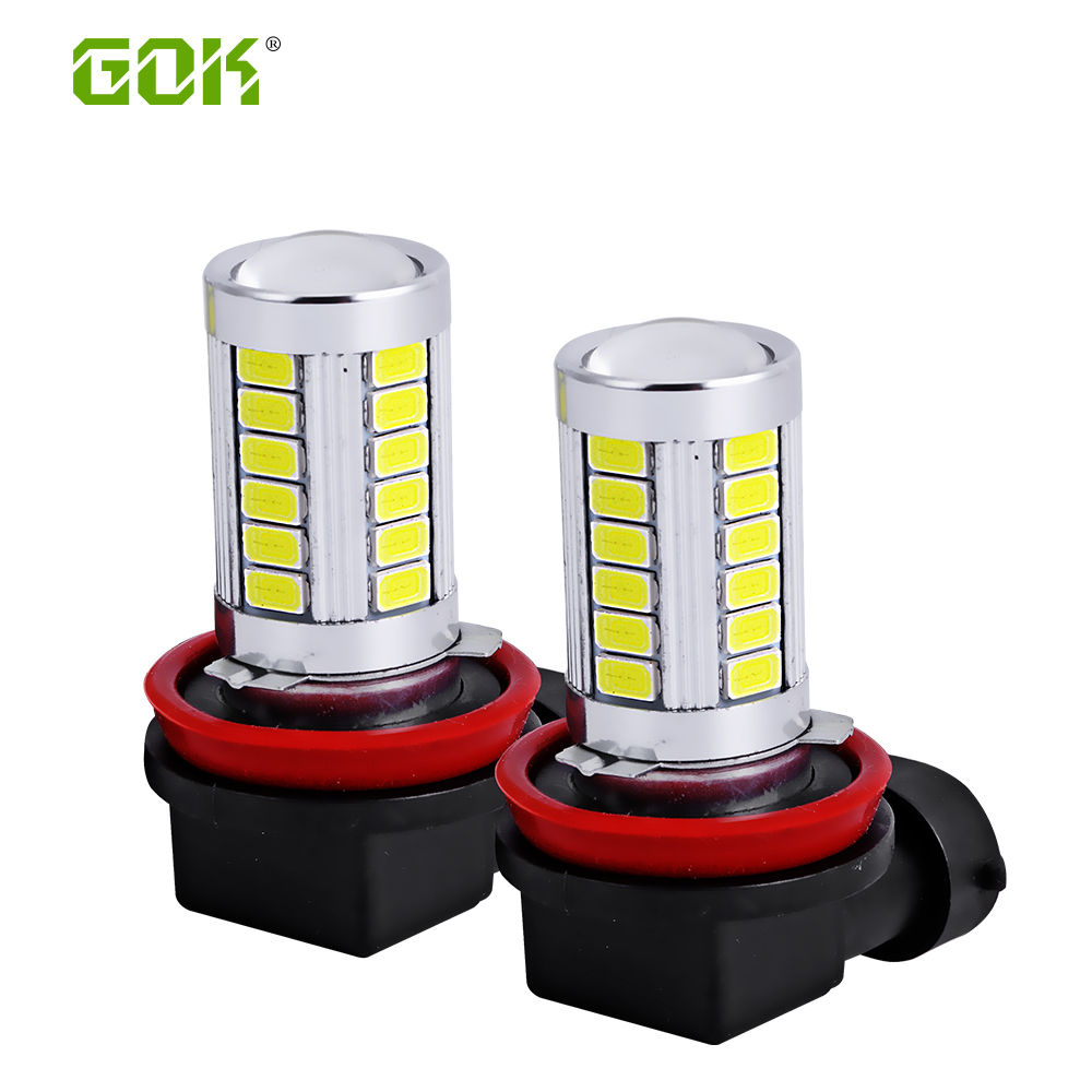 10pcs White LED H11 H8 LED 33smd 5730 HB3/9005 H16 9006/HB4 LED High - Car Lights