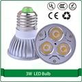 E27 GU10 3W 3pcs spotlight bulb lamp led 270LM 2700K Warm White 4000K natural white Light LED Spot light lamp (85-240V)