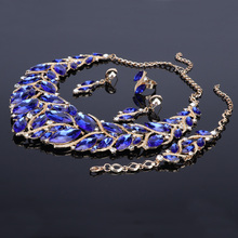 Fashion Bridal Jewelry Sets, Wedding Necklace Earring Bracelet Ring For Brides, Party Prom Costume Accessories For Women