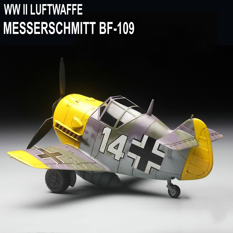Model Building Kits Airplane Fighter Assembly Model World War II Luftwaffe German Messerschmitt BF-109 Model DIY 103