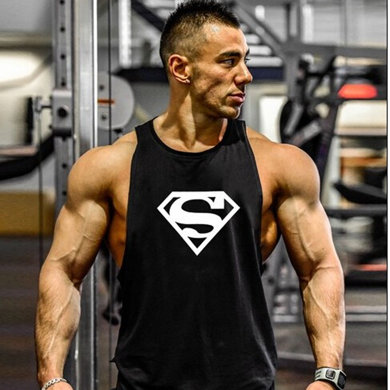 2018 Stringers   Tank     Top   Men Golds Fitness LOA Fitness Singlet Vest Sleeveless Muscle Shirt Undershirt Clothes
