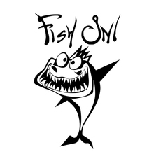 11.5cm*18cm Fish On Cartoon Animal Funny Lovely Humour Car Styling Sticker Vinyl Decal