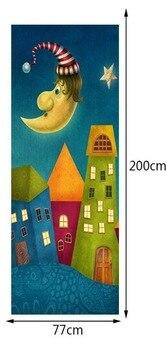 Pintura De Los Niños Casas De La Luna Pegatina Decoración De La Puerta Del Dormitorio De Los Niños Decoración Del Hogar Diy Pegatina De Pared De Safari