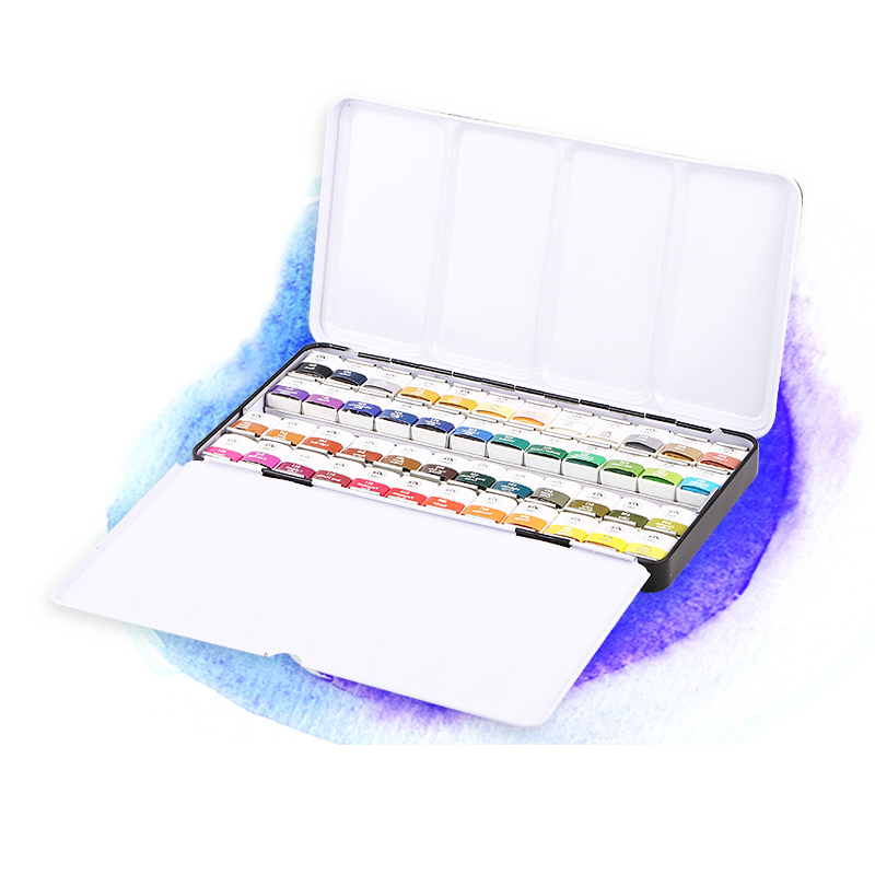 MUNGYO Stationery Set 12/24/48 Color Art Solid Watercolor Painting Pigment Write Iron Box Packaging