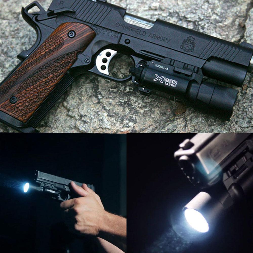 500 lúmenes de alta salida táctico X300 Ultra pistola de luz X300U linterna Glock 1911 pistola de luz - 2