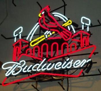 St louis cardinals Budweiser Glass Neon Light Sign